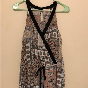 NWOT Mixed Patterned Romper